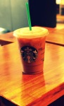 My recent fave: Iced coffee, 2% milk and a shot of hazelnut.