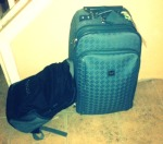 This is all that accompanied me on a 16-day trip to Europe. One regulation sized carry-on and a bookbag.