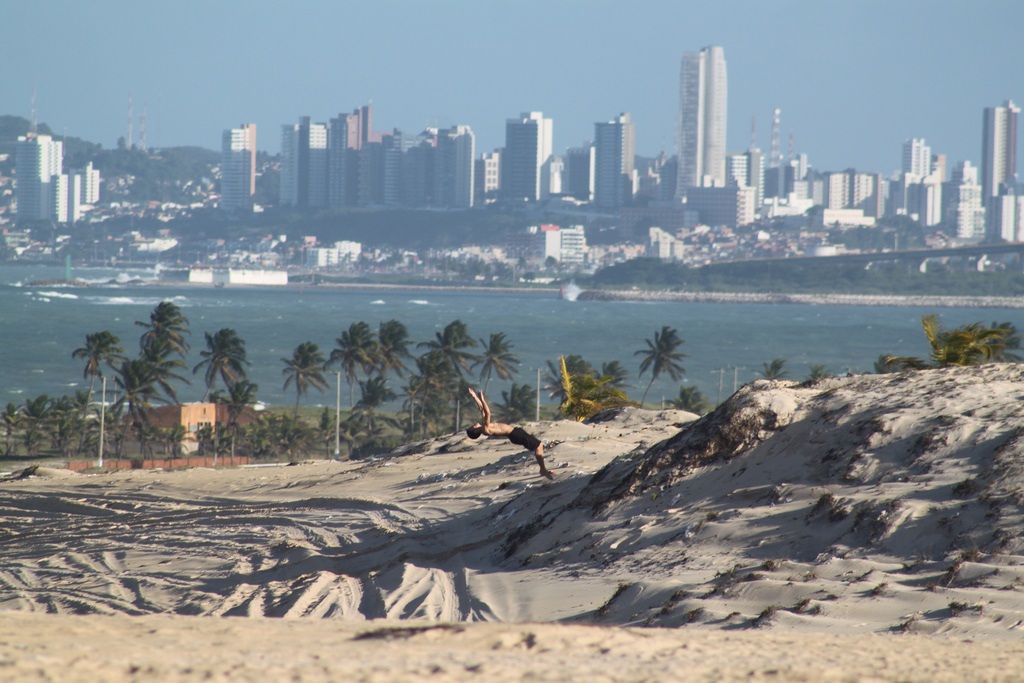 The view of the city of Natal from the top of a sand dune in Jeni Pabu ...