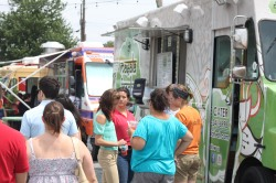 A beautiful day for some food truckin.