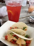 Strawberry Lemonade (Sweet Auburn BBQ) & Taco's from The Taco Buggy.