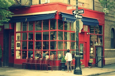 "If this building looks familiar you probably recognize it from the show ""Friends"". In real life it's a cute restaurant called The Little Owl and is located on 90 Bedford Street."