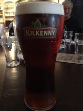 Having a pint at The Brazen Pub